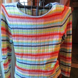 Gorgeous Multi-Color Talbots Knit LS Sweater Top